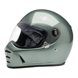 Motorcycle helmets Biltwell Lane Splitter metallic olive ,Vintage Helmets