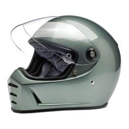 Motorrad helm Biltwell Lane Splitter metallic olive ,Vintage Helme