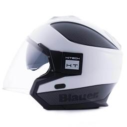 Casco moto Blauer Solo white carbon, Cascos Jet