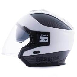 Motorcycle helmet Blauer Solo white carbon ,Jet Helmets
