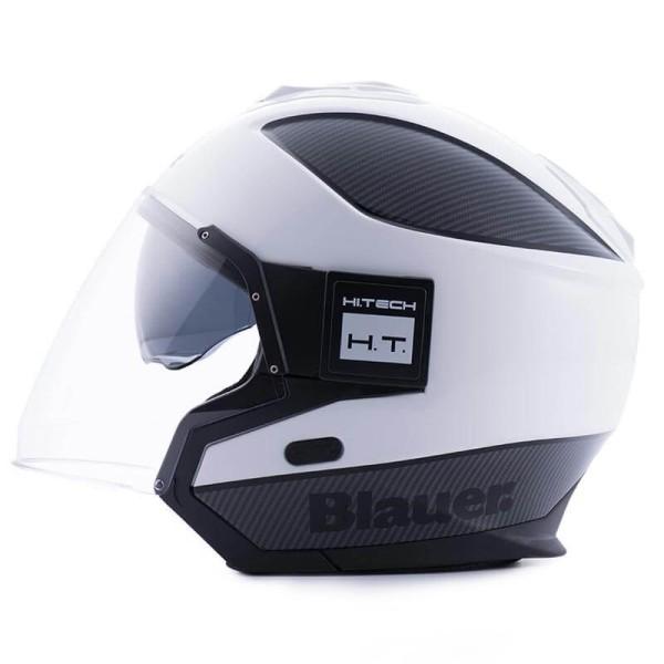 Motorcycle helmet Blauer Solo white carbon