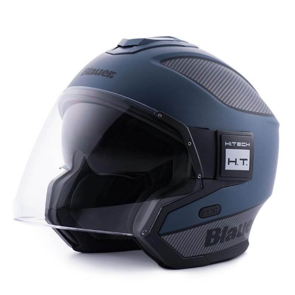 Motorrad helm Blauer Solo blue carbon