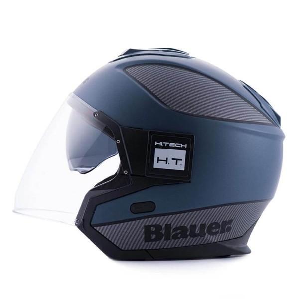Casco moto Blauer Solo blue carbon