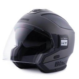 Motorrad helm Blauer Solo black carbon, Jethelme