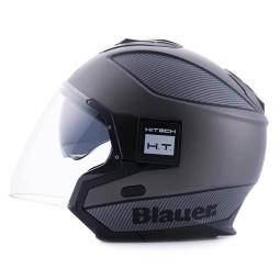 Casco moto Blauer Solo black carbon, Cascos Jet