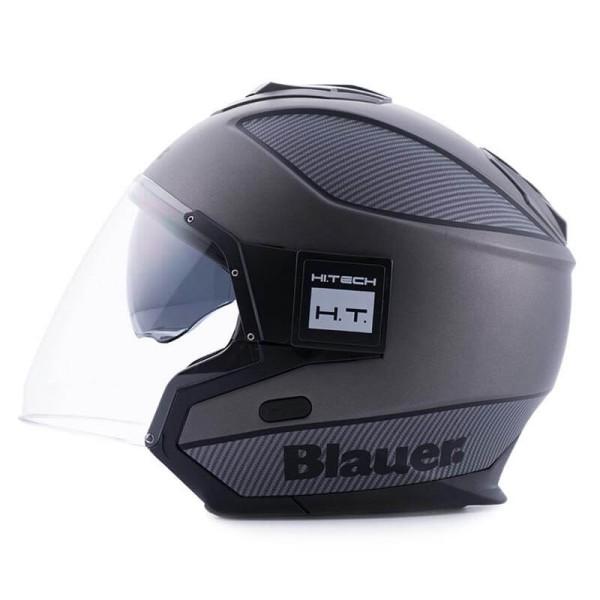 Casco moto Blauer Solo black carbon
