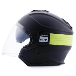 Casco moto Blauer Hacker negro amarillo, Cascos Jet