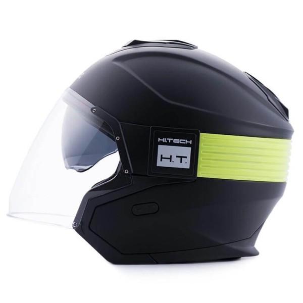 Motorrad helm Blauer Hacker schwarz gelb