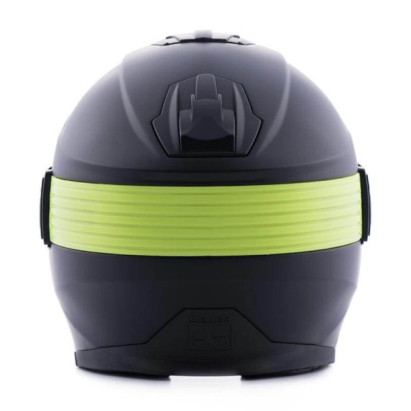 Casco moto Blauer Hacker negro amarillo