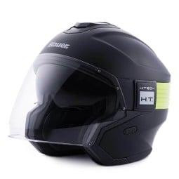 Motorrad helm Blauer Hacker schwarz gelb, Jethelme