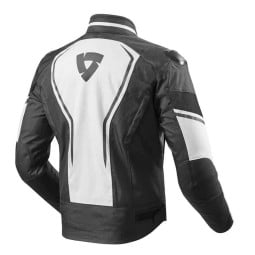 Motorcycle Fabric Jacket REVIT Vertex White Black