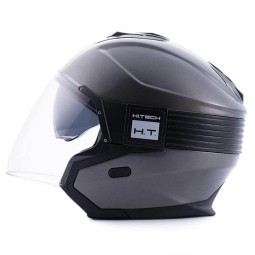 Motorrad helm Blauer Hacker titanium, Jethelme
