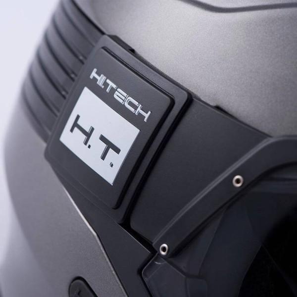 Motorrad helm Blauer Hacker titanium