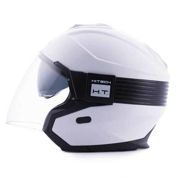Motorrad helm Blauer Hacker weiß