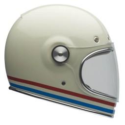 Motorcycle Helmet Vintage BELL HELMETS Bullitt Stripes Pearlwhite ,Vintage Helmets