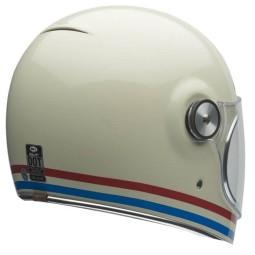 Motorrad Helm Vintage BELL HELMETS Bullitt Stripes Pearlwhite