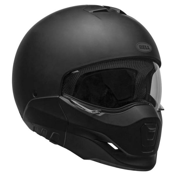 Motorcycle helmet Bell Broozer Matte Black