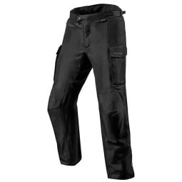 Motorcycle pants Rev it Outback 3 black, Motorcycle trousers