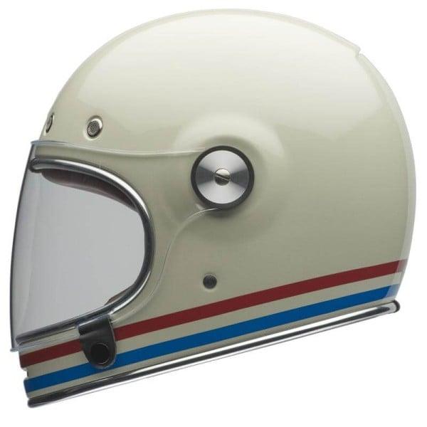 Motorcycle Helmet Vintage BELL HELMETS Bullitt Stripes Pearlwhite