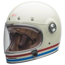 Casco Moto Vintage BELL HELMETS Bullitt Stripes Pearlwhite, Caschi Vintage