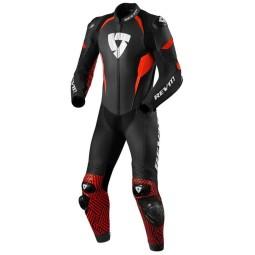 Tuta moto Rev it Triton nero rosso, Tute Moto Pelle