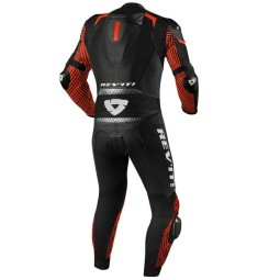 Motorrad Lederkombi Rev it Triton schwarz rot