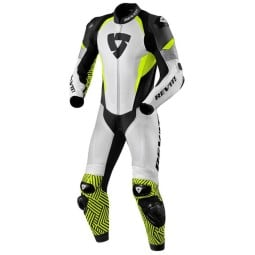 Motorcycle suit one piece Rev it Triton white yellow, Motorcycle Suit