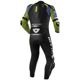 Motorcycle suit one piece Rev it Triton blue yellow ,Motorcycle Leather Suit