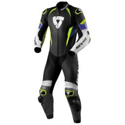 Combinaison moto Rev it Triton bleu jaune ,Combinaison Moto Cuir