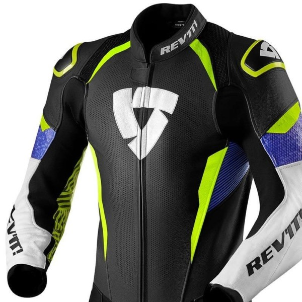 Motorcycle suit one piece Rev it Triton blue yellow