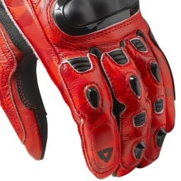 Guanti moto pelle rev it Jerez 3 rosso, Guanti Moto Pelle