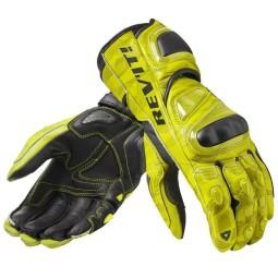 Motorrad-Handschuhe Rev it Jerez 3 gelb ,Motorrad Lederhandschuhe