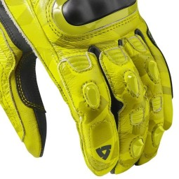 Guanti moto pelle rev it Jerez 3 giallo, Guanti Moto Pelle