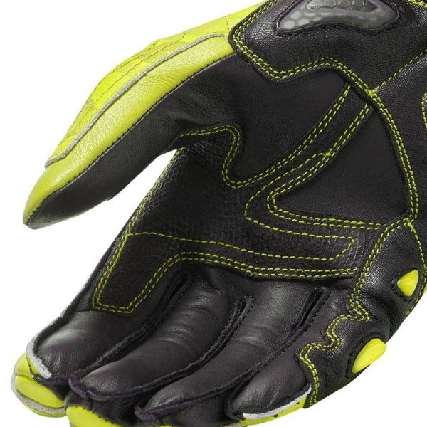 Gants moto cuir Rev it Jerez 3 jaune