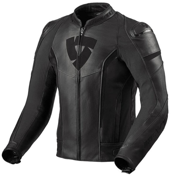 Blouson cuir moto Rev it Glide Vintage noir