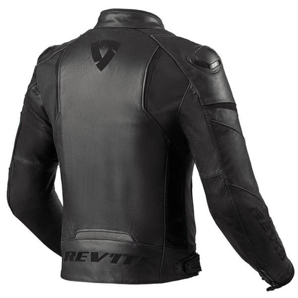 Chaqueta moto cuero Rev it Glide Vintage negro