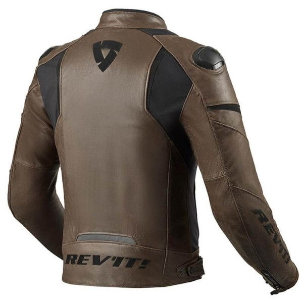Blouson cuir moto Rev it Glide Vintage marron