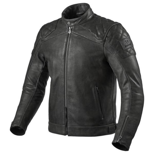 Chaqueta moto cuero Rev it Cordite negro