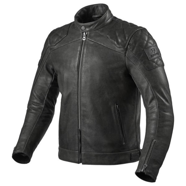 Motorcycle leather jacket Rev it Cordite black