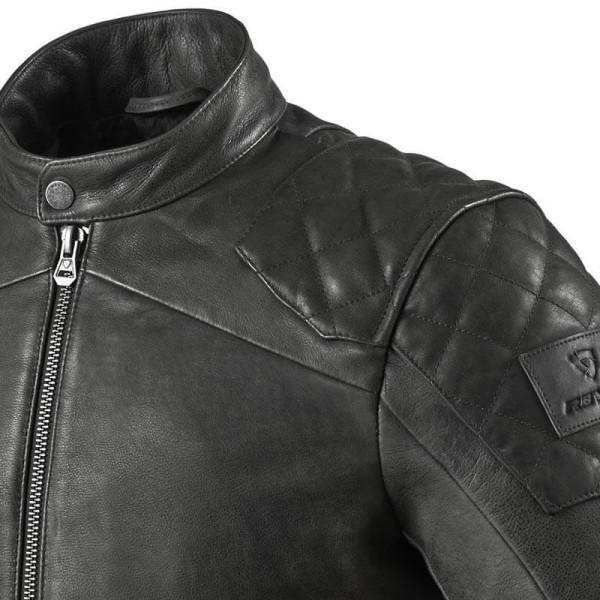 Blouson cuir moto Rev it Cordite noir
