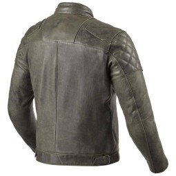 Blouson cuir moto Rev it Cordite olive