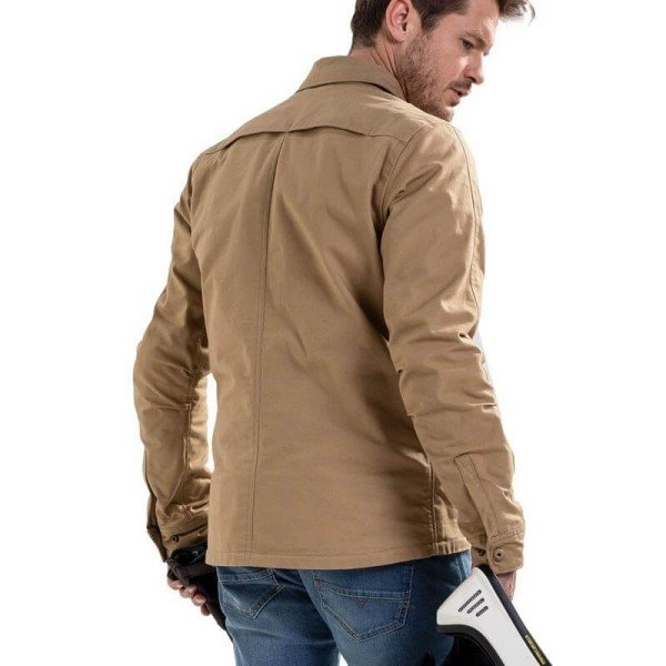 Motorcycle jacket Rev it Worker overshirt sand