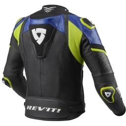 Motorradjacke leder Rev it Hyperspeed Pro schwarz blau