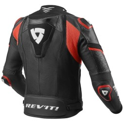 Blouson cuir moto Rev it Hyperspeed Pro noir rouge