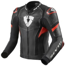 Motorcycle leather jacket Rev it Hyperspeed Pro black red ,Leather Motorcycle Jackets