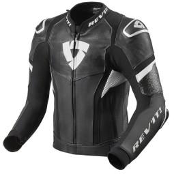Motorcycle leather jacket Rev it Hyperspeed Pro black white ,Leather Motorcycle Jackets