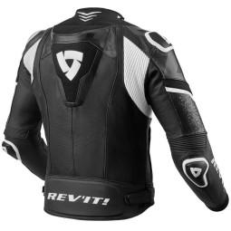 Chaqueta moto cuero Rev it Hyperspeed Pro negro blanco