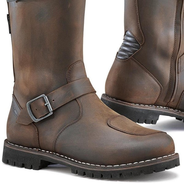 Bottes moto TCX Fuel waterproof marron