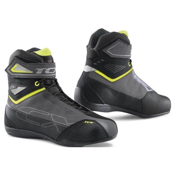 Motorcycle shoes TCX Rush 2 waterproof grey yellow