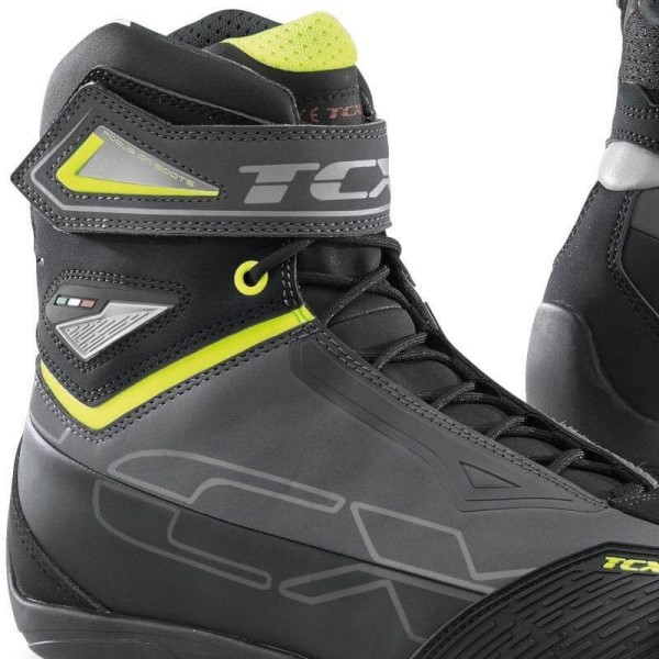 Zapatos moto TCX Rush 2 waterproof gris amarillo